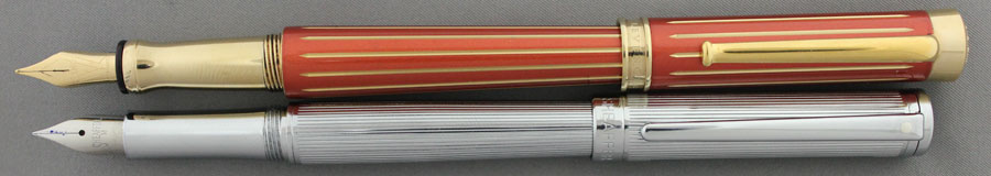Sheaffer Intensity and Levenger Newton Open, Showing similar Sections