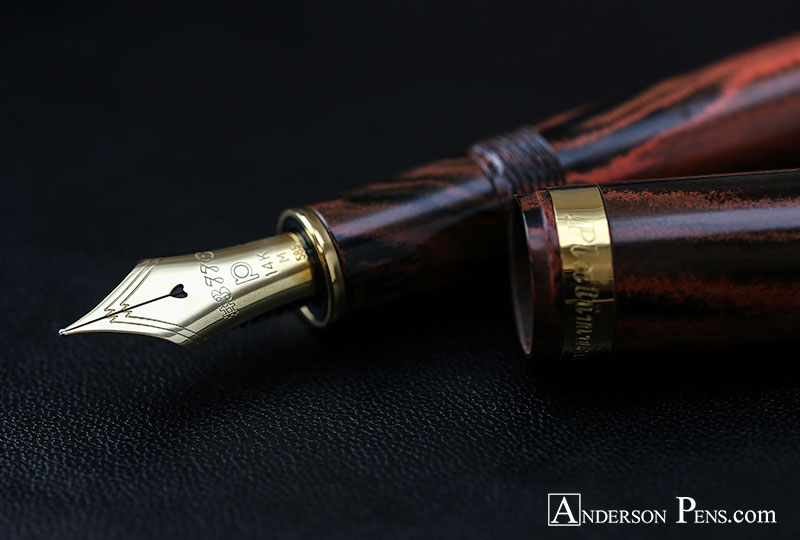 Platinum 3776 Century Jupiter Red Ochre Ebonite