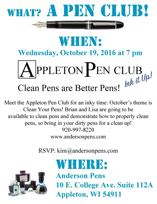 Appleton Pen Club October