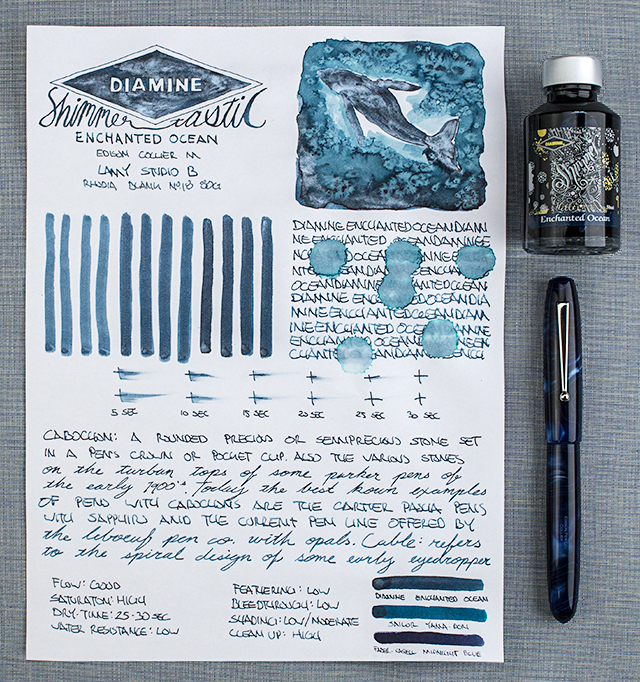 thINKthursday - Diamine Shimmertastic Enchanted Ocean