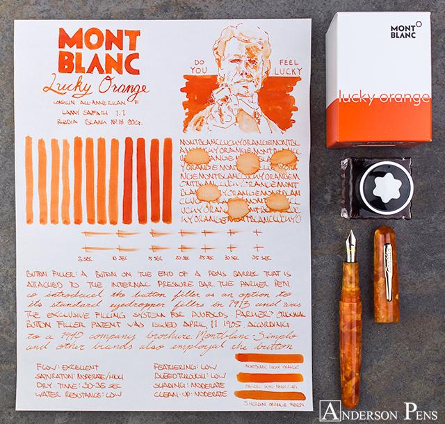 thINKthursday - Montblanc Lucky Orange