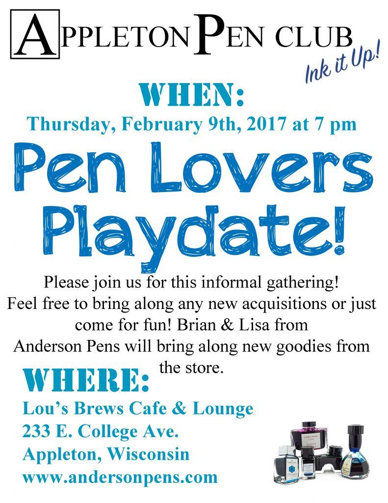 Appleton Pen Club - Pen Lovers Playdate