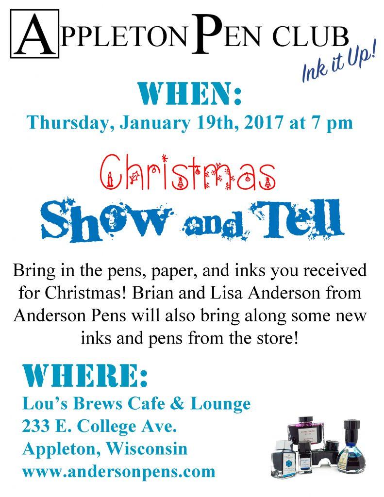 Appleton Pen Club - Christmas Show & Tell