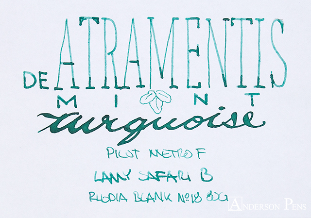 thINKthursday - De Atramentis Mint Turquoise