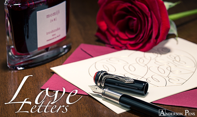 Love Letters with Pilot Iroshizuku Momiji and Montblanc Rouge et Noir