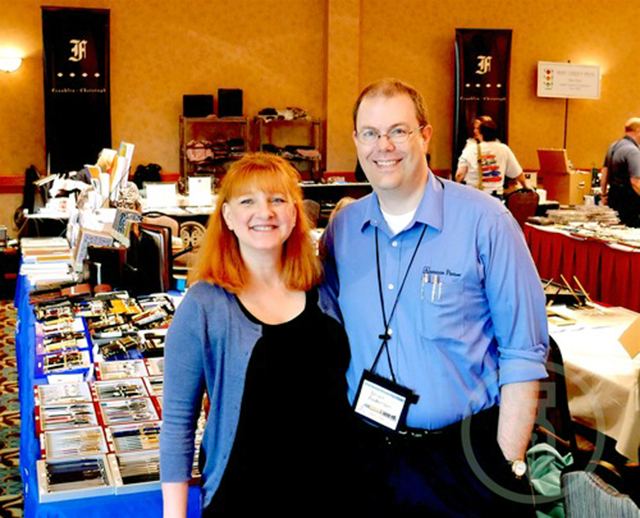 Brian and Lisa Anderson, at the Triangle Pen Show in Raleigh