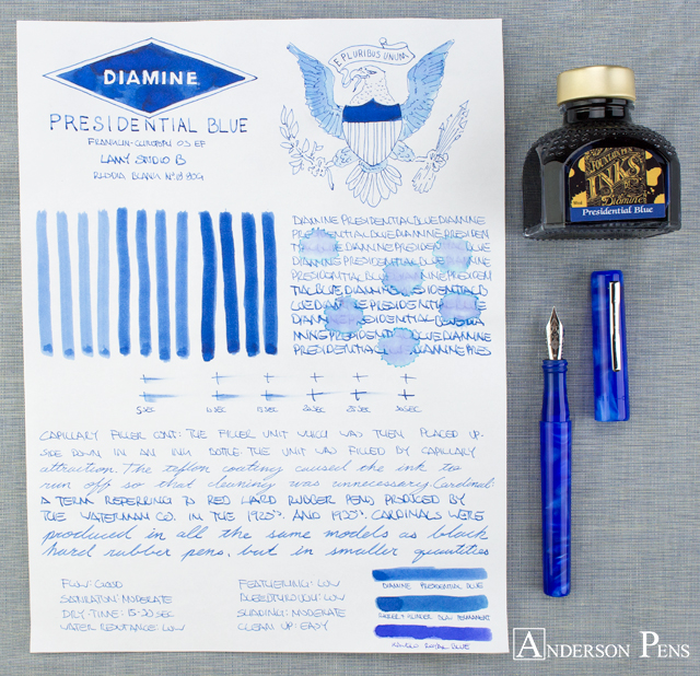 thINKthursday - Diamine Presidential Blue