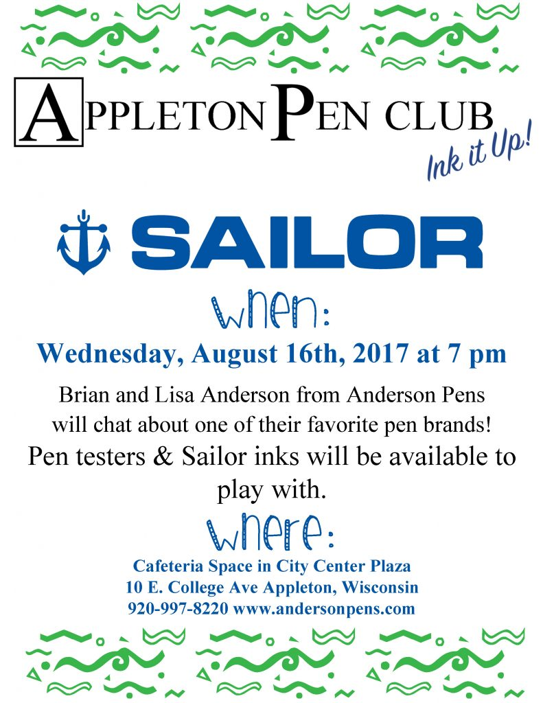 August Pen Club Flier