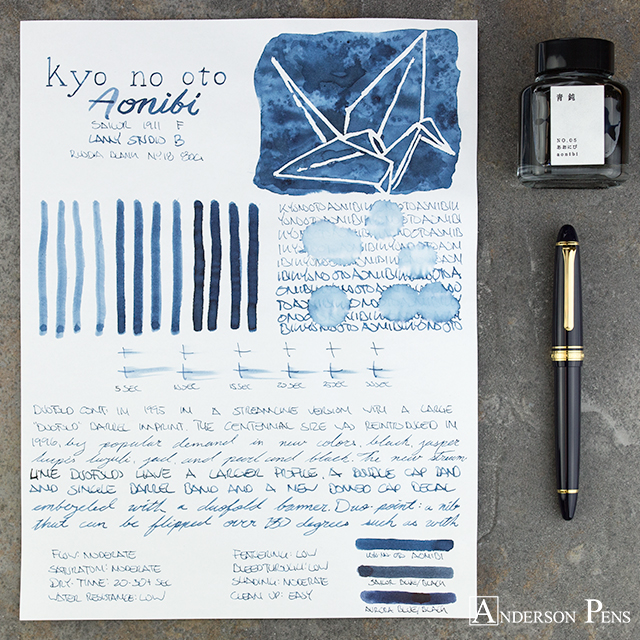 thINKthursday – kyo-no-oto Aonibi | Anderson Pens