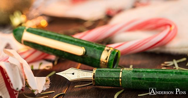 Platinum 3776 Celluloid Fountain Pen in jade