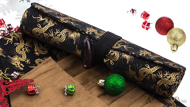 Taccia Pen Wrap - Golden Dragons