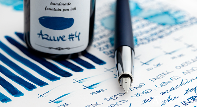KWZ Azure No. 4 thINKthursday with Lamy Studio Imperial Blue