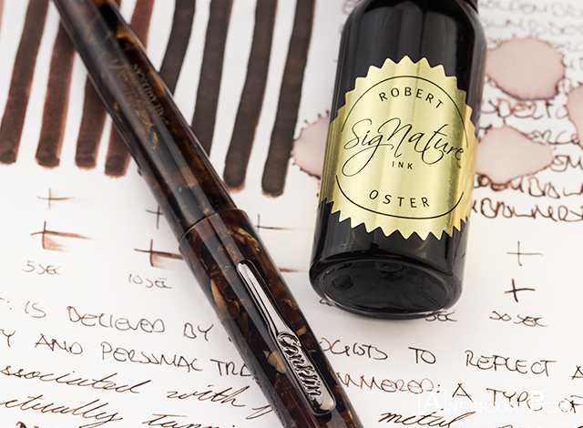 Robert Oster Golden Brown thINKthursday with Conklin All American Brownstone