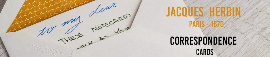 Mr. Paper! Jaques Herbin Correspondence Cards!